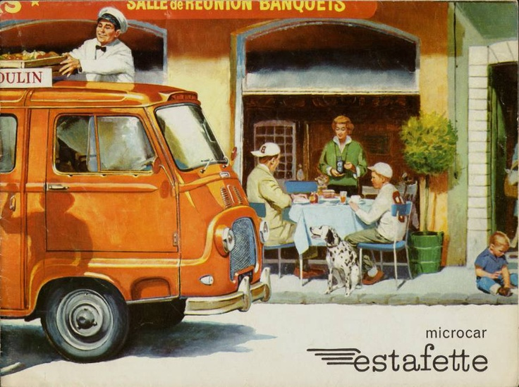 Renault Estafette, great vintage ad.