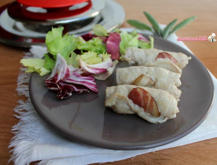 Involtini di lonza e pancetta con Magic Cooker ricetta secondo piatto facile, veloce da fare perché gli involtini sono cotti con il coperchio magic cooker