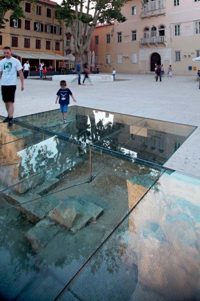 Petar Zoranić Square and Šime Budinić Plaza - Croatia / Kostrenčić-Krebel Architects Mise en valeur des souterrains