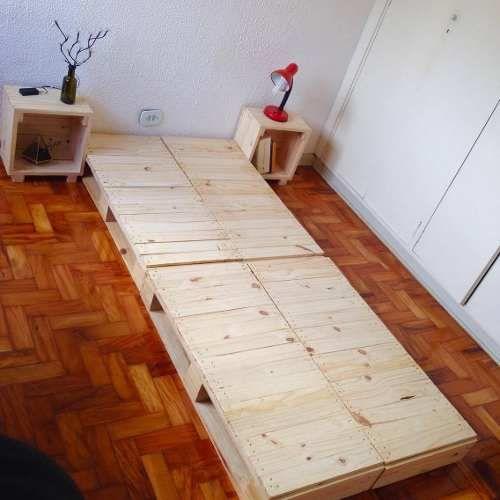 4 Pallets Novos De Madeira - 1,03 X 0,45 (cama De Solteiro)