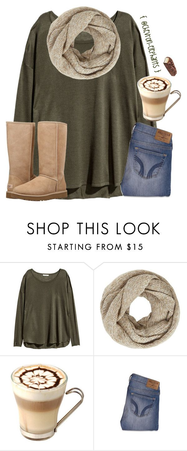 """""""Spammmmmmm"""" by chevron-elephants ❤ liked on Polyvore featuring H&M, John Lewis, Hollister Co. and UGG"""