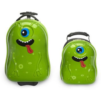 FREE SHIPPING! Shop Wayfair for TrendyKid 2 Piece Archie Alien Children's Luggage Set - Great Deals on all Luggage & Bags products with the best selection to choose from!