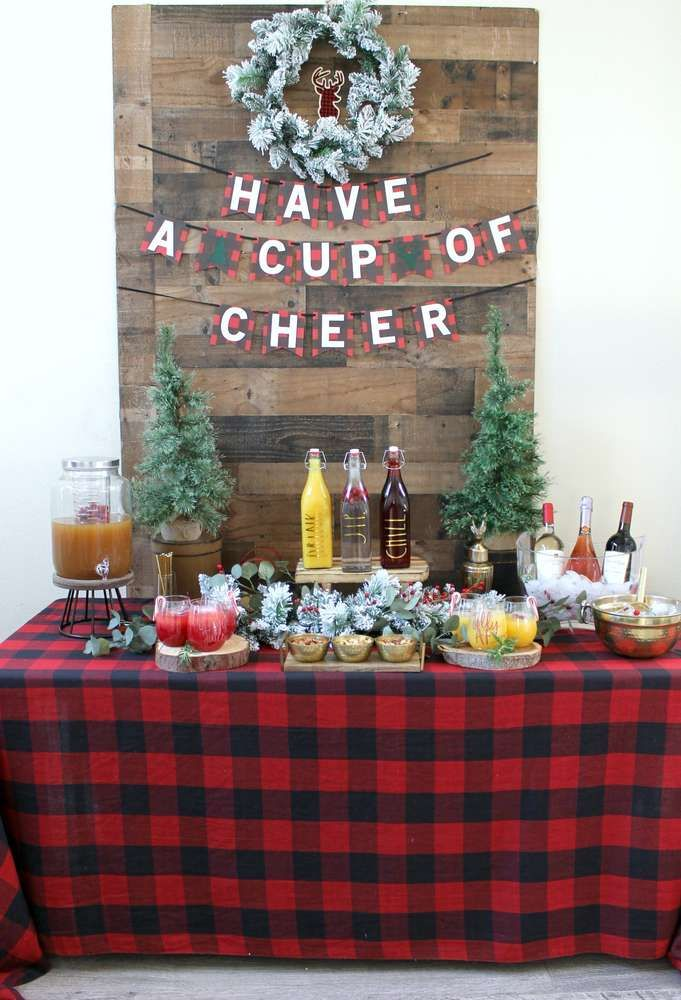 Have A Cup Of Cheer At This Wonderful Christmas Holiday Party See More Party Ideas And Sh Christmas Brunch Party Work Christmas Party Office Christmas Party