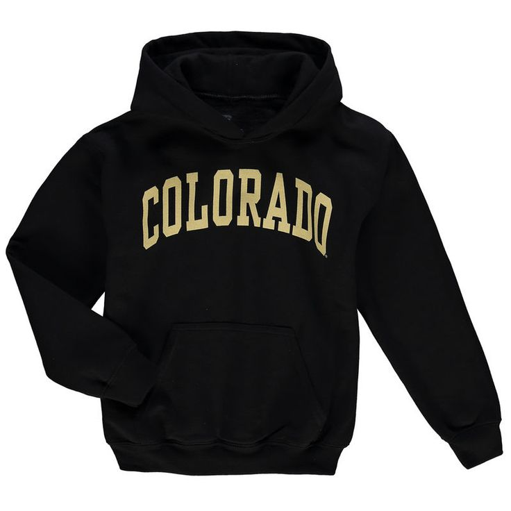Colorado Buffaloes Youth Basic Arch Pullover Hoodie - Black