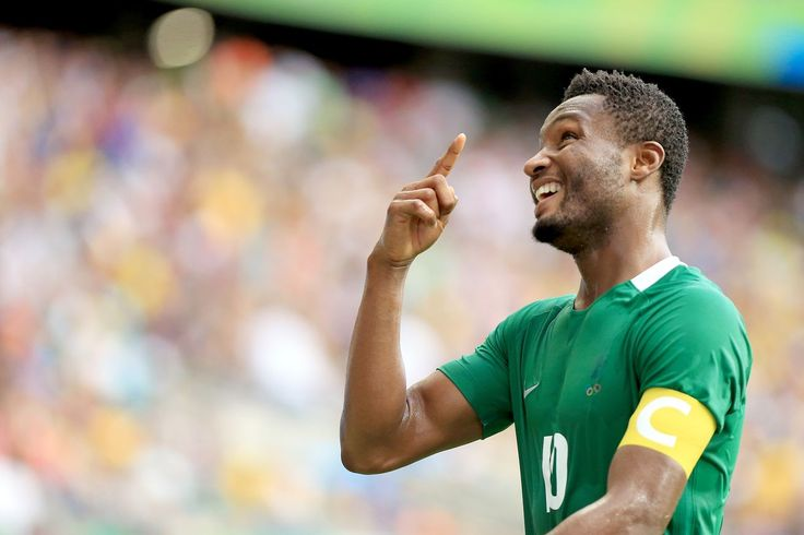 Mikel Obi making Nigeria proud at the RIO Olympics ....in soccer, a top event.
