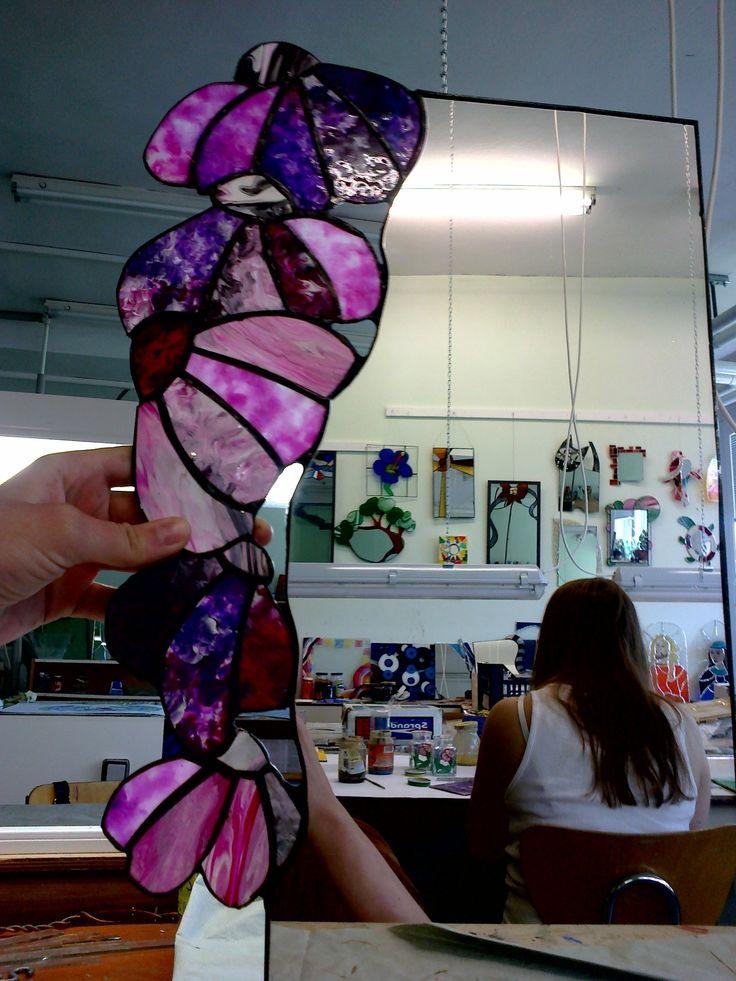 Ručně malované zrcadlo...