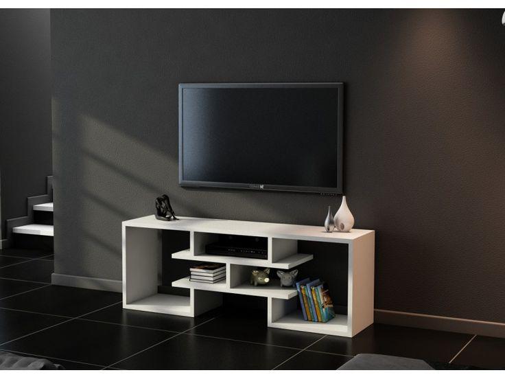 Adron Tv Sehpası Beyaz