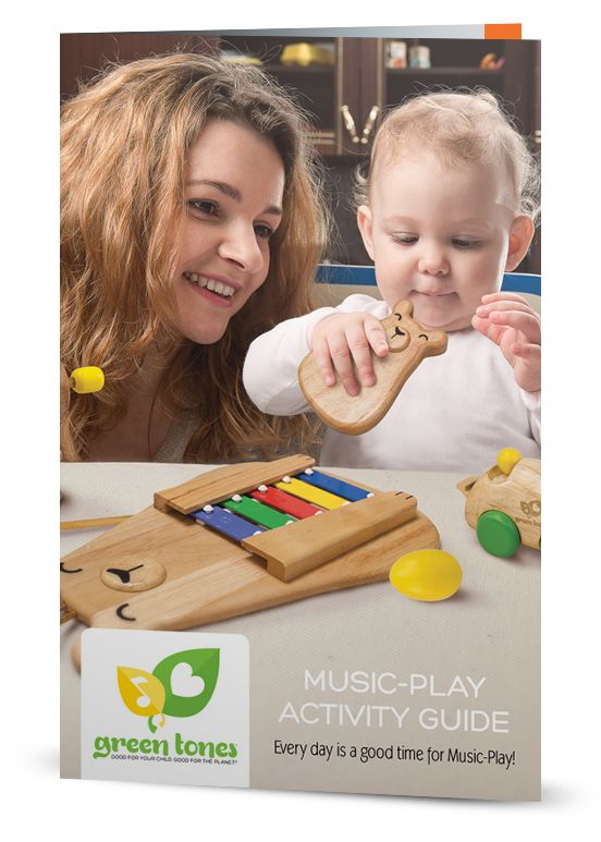 It's never too early to start helping your child with auditory and cognitive development. Download the green tones® Music-Play Activity Guide for FREE and learn stimulating activities to do with your child! #green tones® #eco instruments & toys