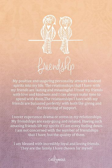 Affirmation - Friendship by CarlyMarie