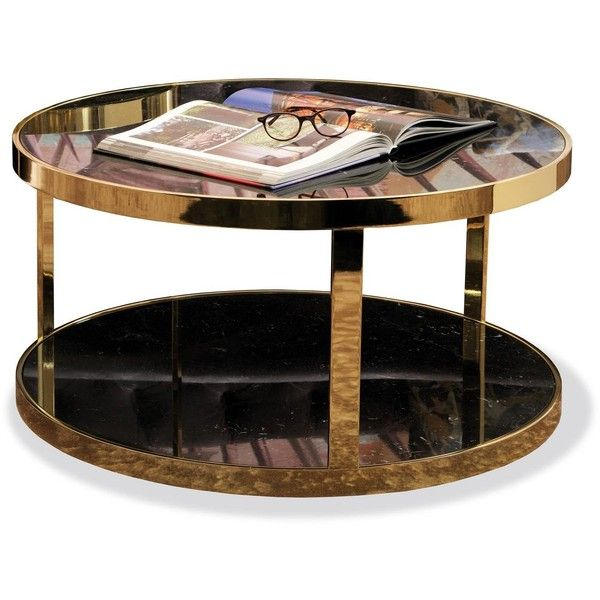 Dom Edizioni Luigi Round Marble or Glass, Metal Coffee, Cocktail or... ❤ liked on Polyvore featuring home, furniture, tables, accent tables, metal glass end table, white end table, black glass end table, black metal end table and black glass side table