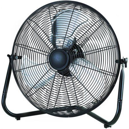 20″ High Velocity Fan, Black with 3 speed manual controls