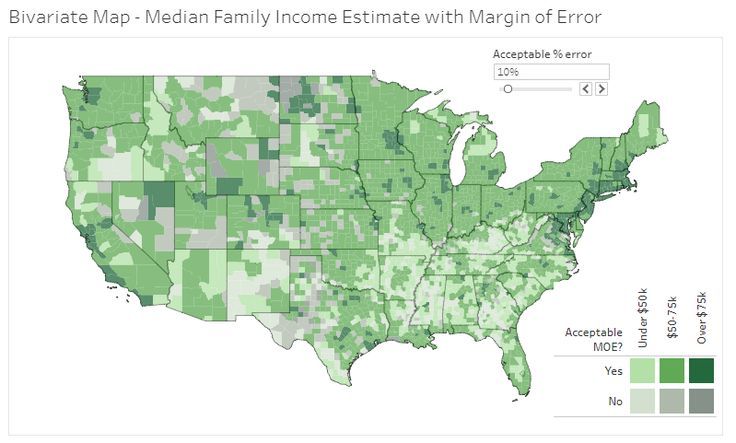 How to make effective bivariate choropleth maps with Tableau
