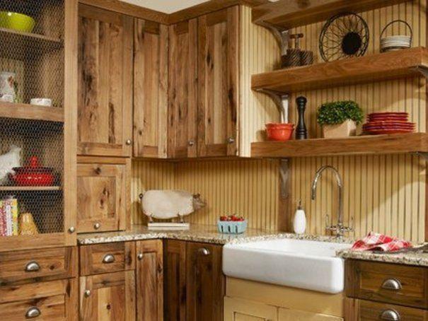 Die besten 25+ Hickory küchenschränke Ideen auf Pinterest - küchenschrank mit arbeitsplatte