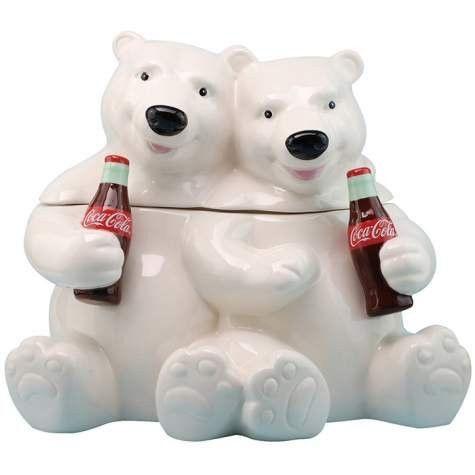 Westland Coca-cola Hugging Bears Cookie Jar