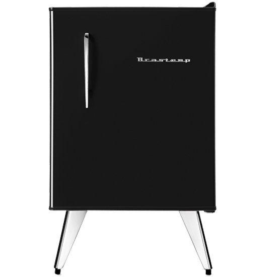Frigobar Brastemp Retrô, 1 Porta, 76 Litros, Preto, com congelador - BRA08AE