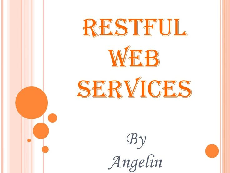 RESTful webservices using Jersey (JAX-RS implementation) API. ~ by Angelin R via Slideshare