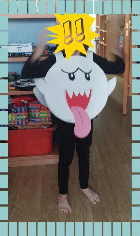 Super Mario Bros' Boo Costume. Handmade from EVA foam. Easy-peasy.