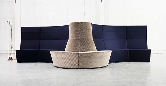 For Stockholm Furniture Fair 2016 Lammhults Introduces Area Radius - in response to the demands of today's and tomorrow's workplace environments. Design: Anya Sebton