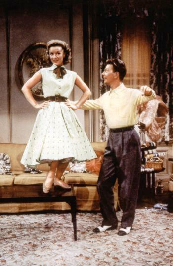 "Donald O'Connor and Debbie Reynolds in ""I love Melvin"". Love that number."