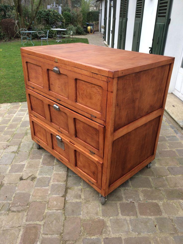 ancien meuble de boulanger dit parisien mobilier industriel pinterest dit boulanger et. Black Bedroom Furniture Sets. Home Design Ideas