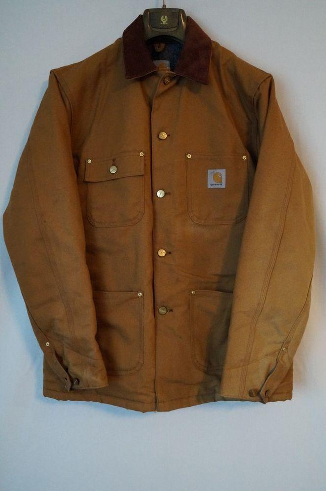Mens Carhartt Detroit Jacket Mexico Lined Work Duck Size M | eBay
