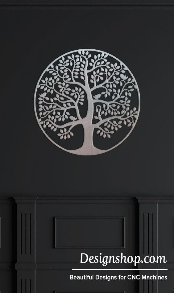 Tree Of Life Wall Art - Cut from metal with CNC. This DXF file is designed for CNC Plasma, Laser, or waterjet machines.