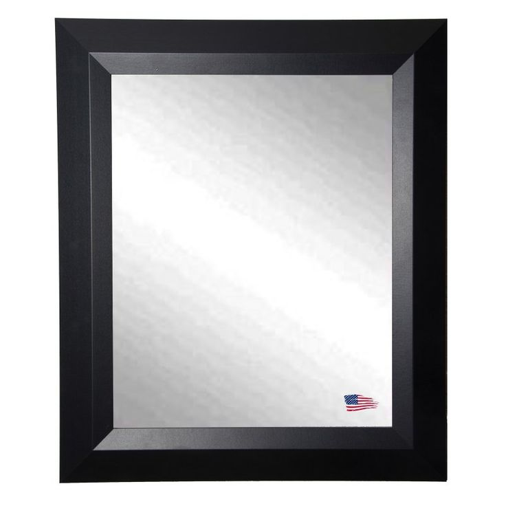 Rayne Mirrors Contemporary Matte Black Wall Mirror - V009