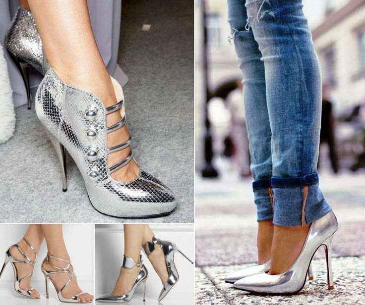 Wearing silver shoes is like adding another piece of jewellery to your outfit..