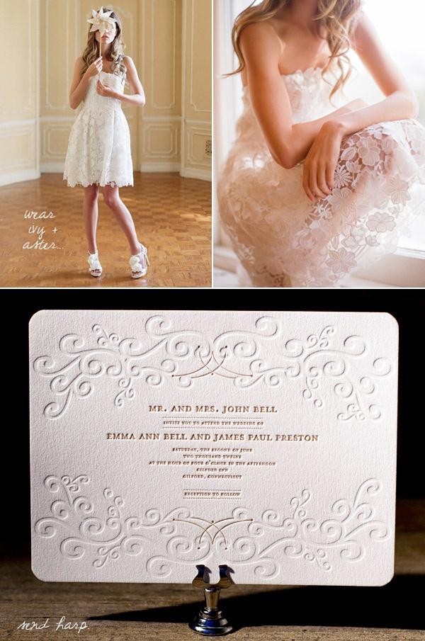 Bella Figura wedding invite