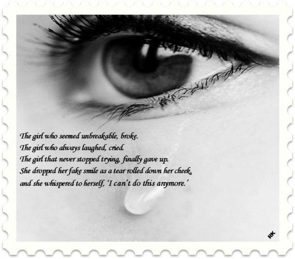 Sad Boy Alone Quotes: Heart Broken: Sad Quotes:- I Can't Do