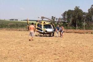 #EsteAnoEuNaoVoto  cuidado com sabotagem  Helicóptero que transportava Frank Aguiar e equipe faz pouso de emergência em fazenda
