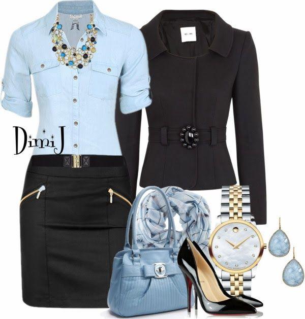 Black & Blue outfit