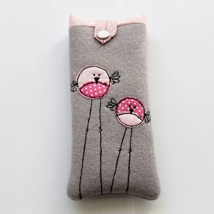birds appliqued glasses case by honeypips | notonthehighstreet.com