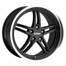 """Scorpion Black - It has always been hard fitting aftermarket wheels on Corvettes. But Cray Corvette wheels change all this. Cray Corvette wheels even accept the original Corvette center cap. Plus, all Cray Corvette wheels take the original Corvette air sensor and are Corvette """"hub-centric,"""" ensuring you and your 'Vette the smoothest ride. Featuring jaw dropping styles like the SCORPION - BLACK, Cray Wheels offer the world's widest range of one-piece staggered Corvette wheels."""
