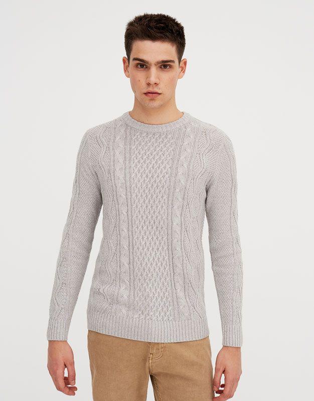 e4217f21236 Pull Bear - hombre - ropa - jerséis y cárdigans - jersey de ochos - gris -