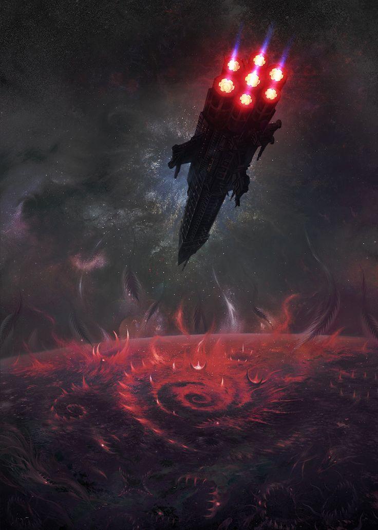 "quarkmaster: ""  Tuchulcha Art for Warhammer40k Dark Heresy rolebook Fantasy Flight Games & Games Workshop. Alexandr Elichev """