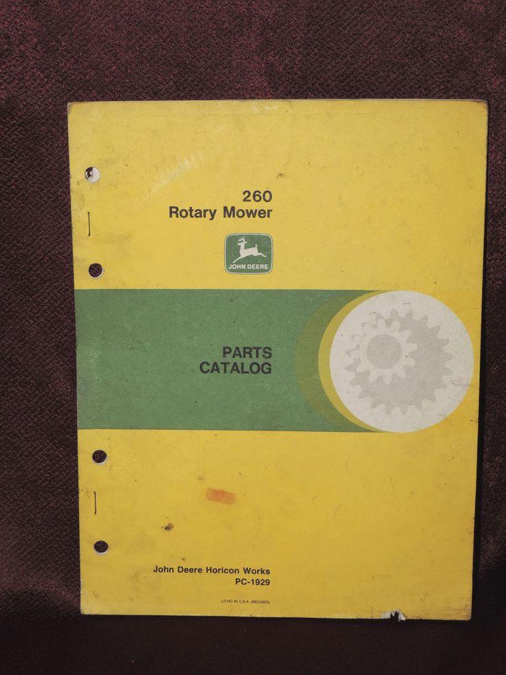 John Deere 260 Rotary Mower Parts Catalog JD Horicon Works PC-1929 #JohnDeere