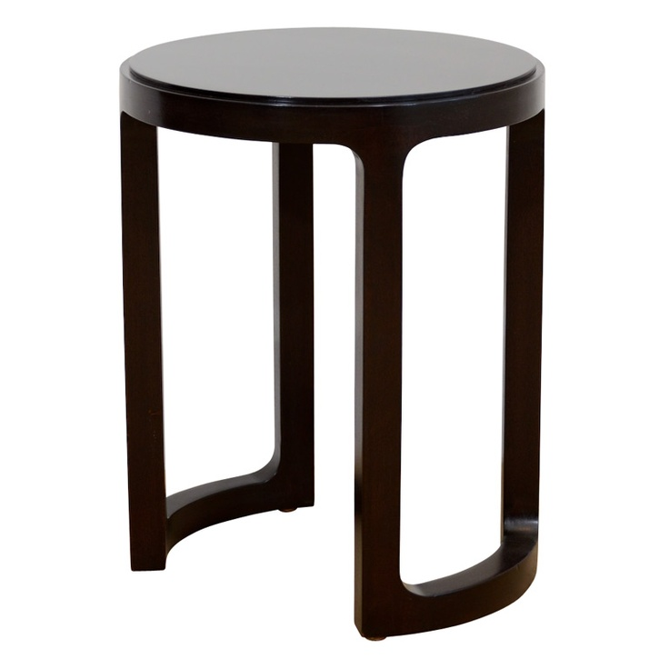 A Small Ed Wormley For Dunbar Candle Table. The Stepped Circular Top Raised  On U Shaped Legs. Measurements Height: In. Cm) Diameter: 15 In.