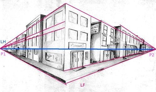 11 besten fluchtpunkt perspektive lernen bilder auf pinterest fluchtpunkt arquitetura und. Black Bedroom Furniture Sets. Home Design Ideas