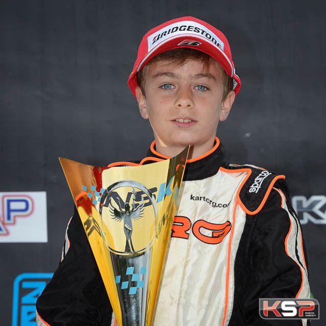 Elliott Vayron, champion NSK en Minime