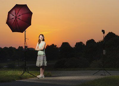 Strobist: Free, Custom Backdrops Delivered Daily: How to Shoot Flash Into a Sunset