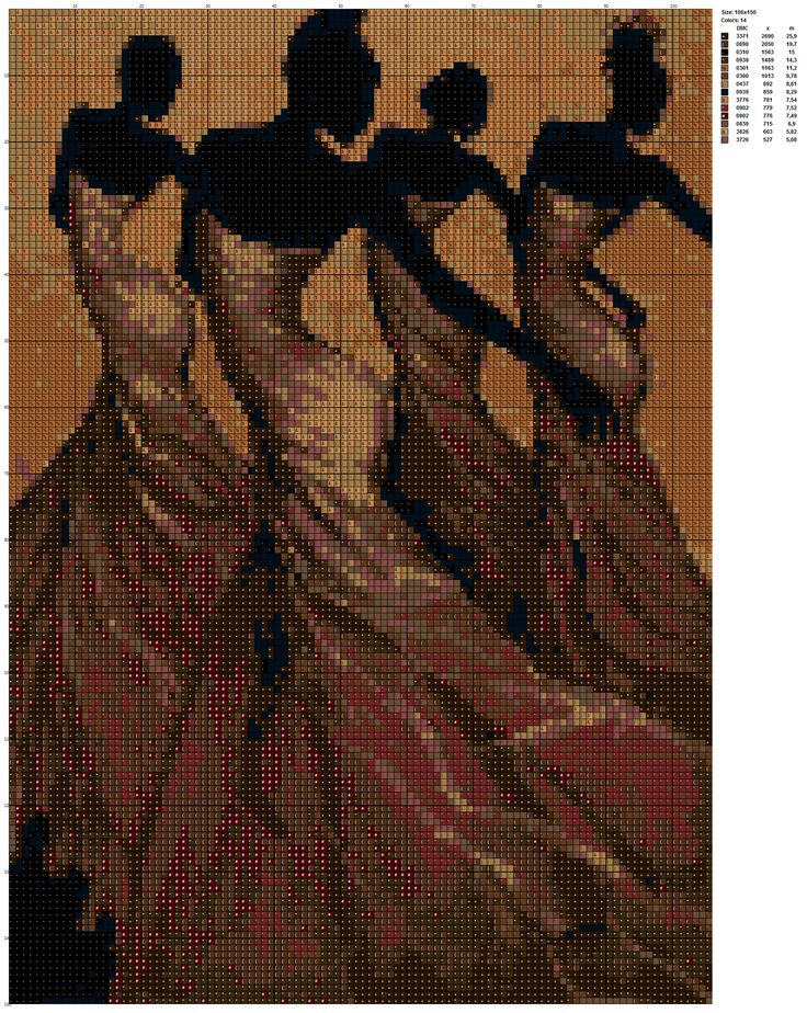 African Dancers counted cross stitch kit