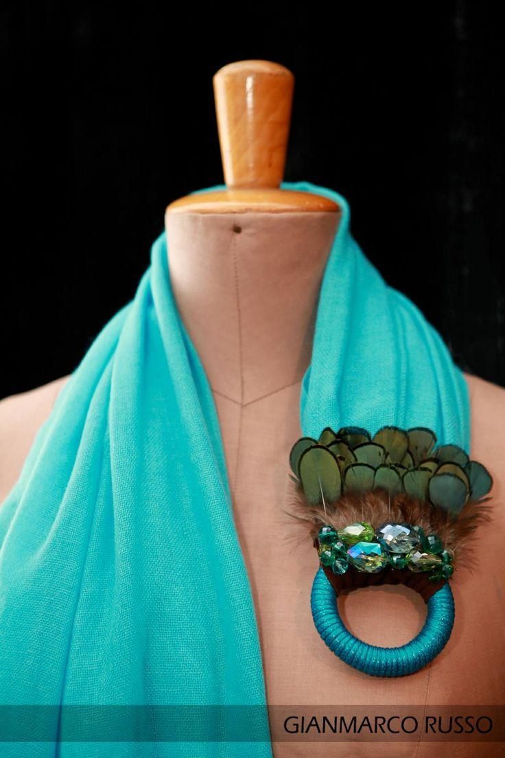 Gianmarco Russo - Sciarpa gioiello - 100% cachemire