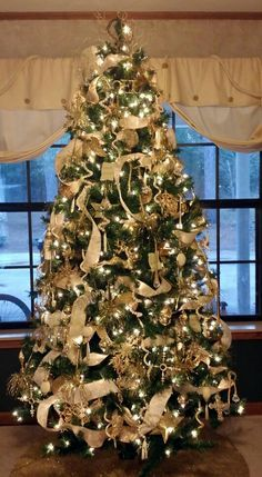 image result for how to decorate a tree with ribbons