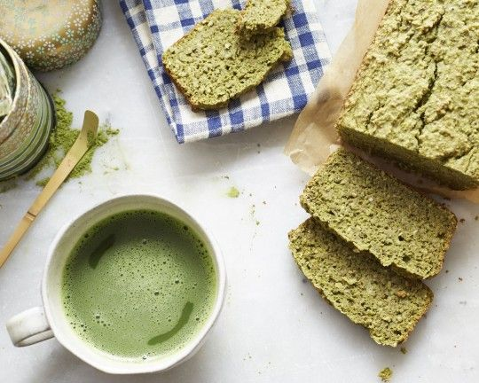 tea + cake. The green tea powder can come from anywhere, not just this company. You can also make coconut flour, oat flour, and almond meal by grinding in your food processor or coffee grinder. Gluten-free flour can replace brown rice flour. Enjoy!