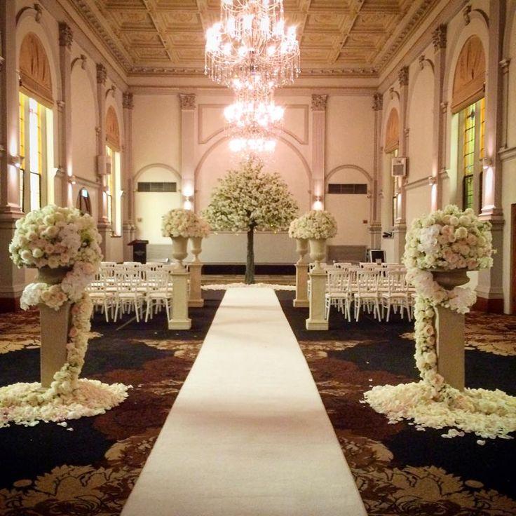 Beautiful  Indoor ceremony setup - Curzon Hall