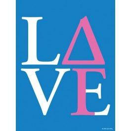 Delta Gamma Love Print http://www.dormify.com/greek/delta-gamma/delta-gamma-love-print