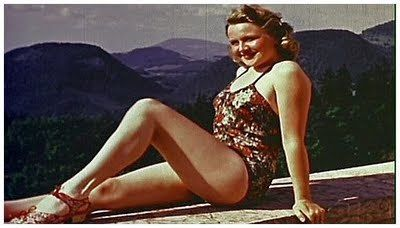 Eva Braun (1912-1945). Lover, then wife of Adolf Hitler. Half-Jewish, Hitler presented when she was 17 years by Hitler's court photographer, Heinrich Hoffman, a half-Jew, with whom she worked.