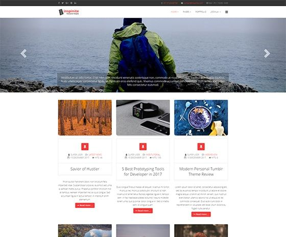 Inspinite - Free Joomla Blog Template #joomla #templates #free #blog #news #themes