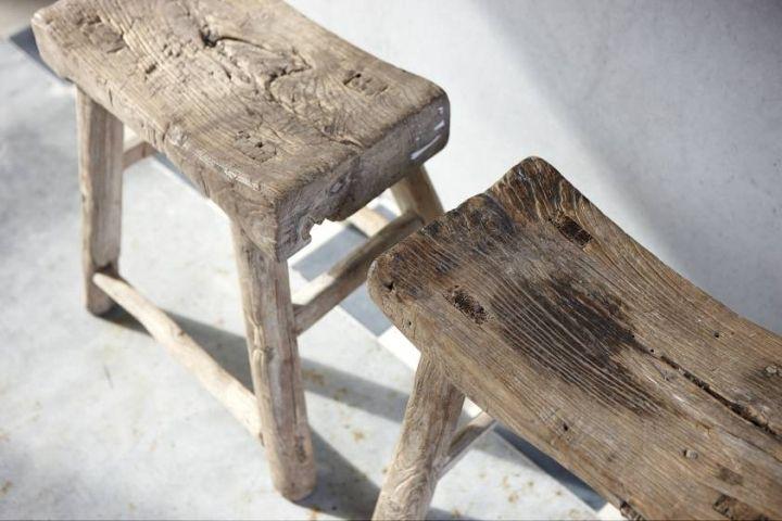 Small timber stools